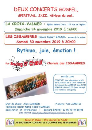 Affiche concert Swing O Choeur 11 2019 R